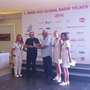 Deniz Kızı Ulusal Kadın Yelken Kupası ödül töreni gerçekleşti
